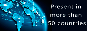 Present in more than 50 countries