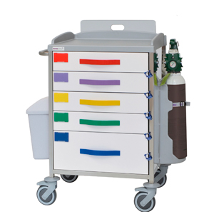 Multifunctional hospital trolley